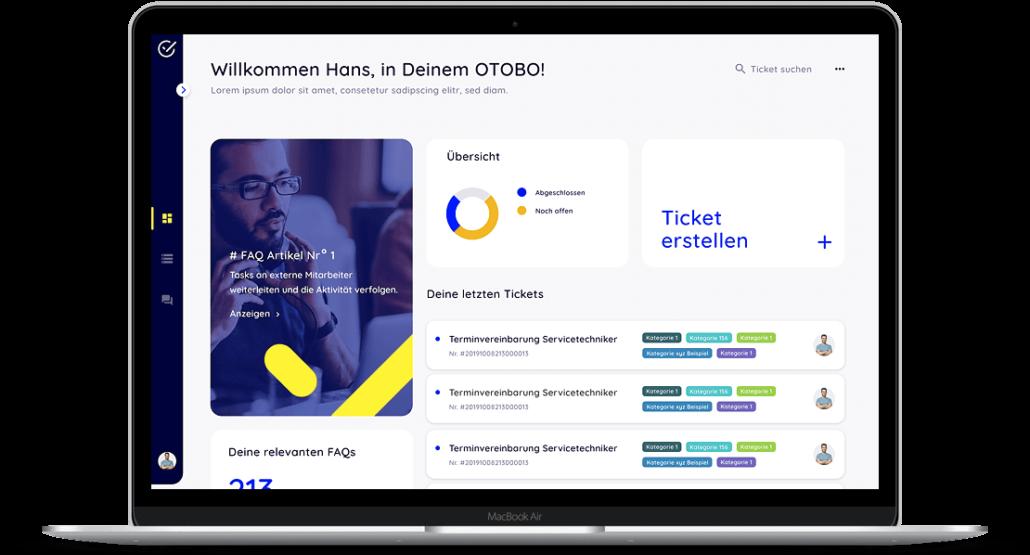 Das neue OTOBO Kunden Dashboard, die alternative zu OTRS