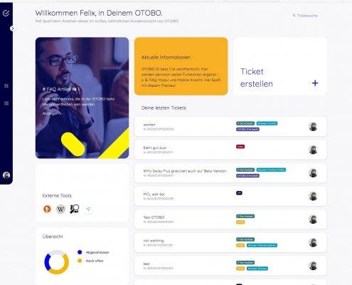 OTOBO Preview Kundenoberfläche