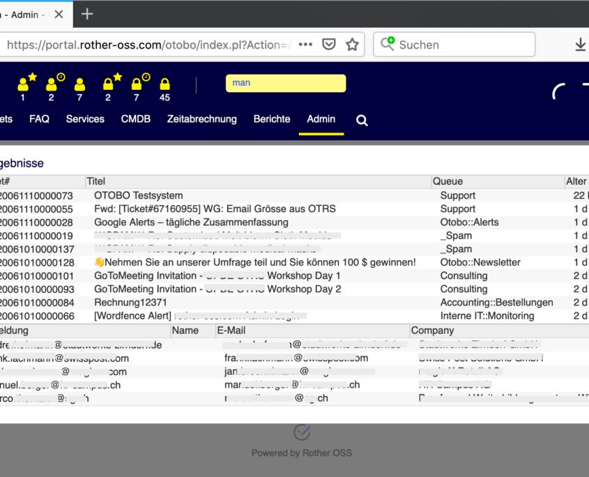 OTOBO Schnellsuche mit Elasticsearch im Agenten-Bereich