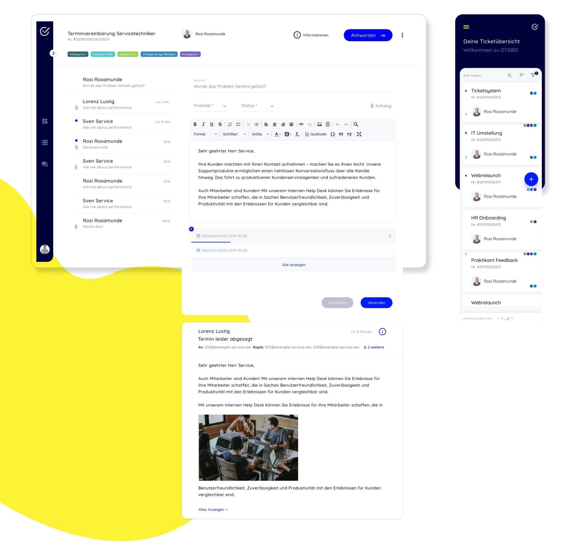 OTOBO Helpdesk - Neues Serviceportal