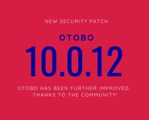 OTOBO 10.0.12 Security Patch