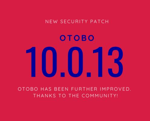OTOBO Release News 10.0.13